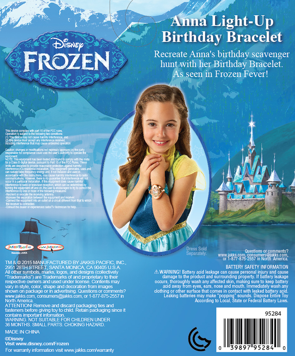 Frozen_95284_Frozen Fever Anna Birthday Bracelet_BC_F15 cs5